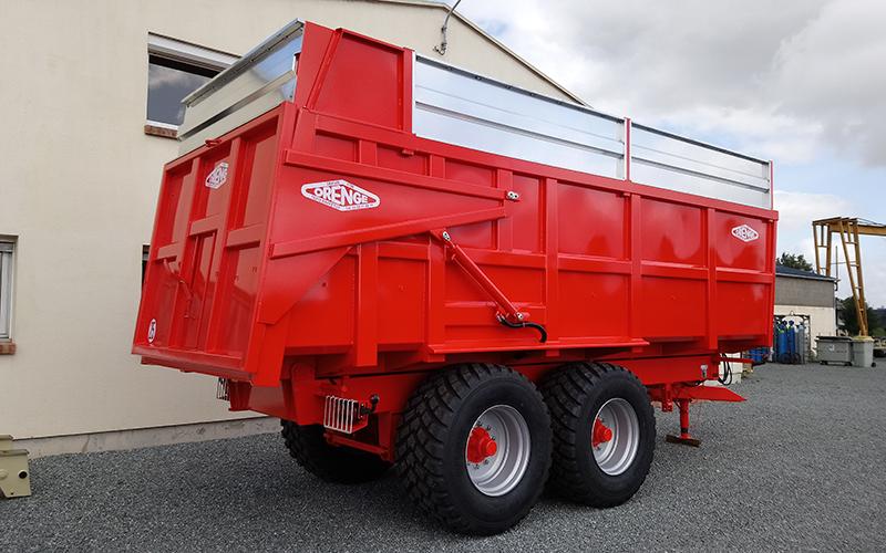 Benne agricole monocoque 2 essieux